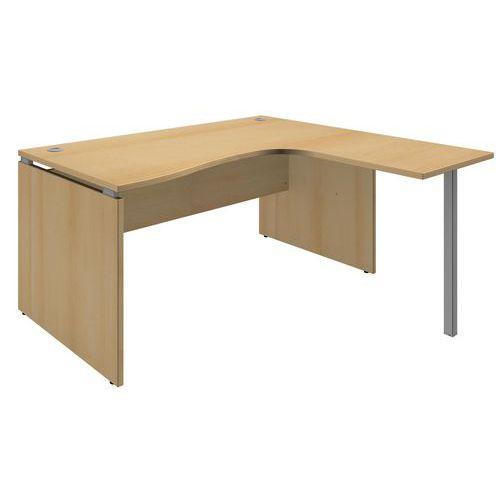 Bureau compact square h tre for Bureau hetre