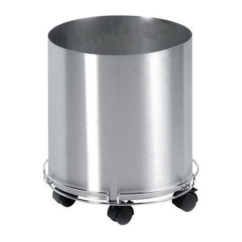 Cache-pot inox 38 cm