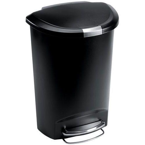 poubelle a pedale en plastique demi lune 50 l manutan fr