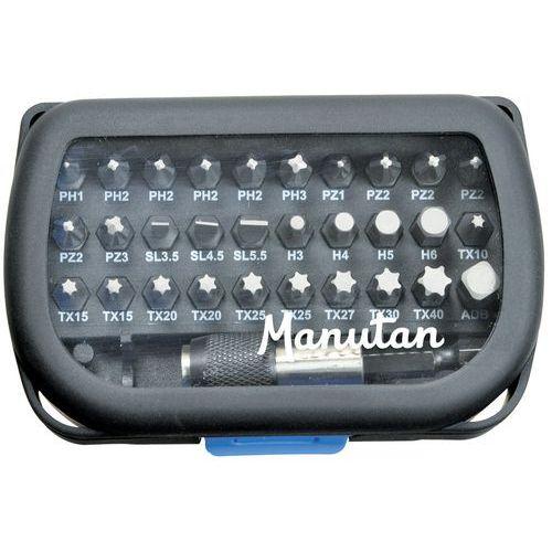 Coffret 31 embouts + porte embout - Manutan