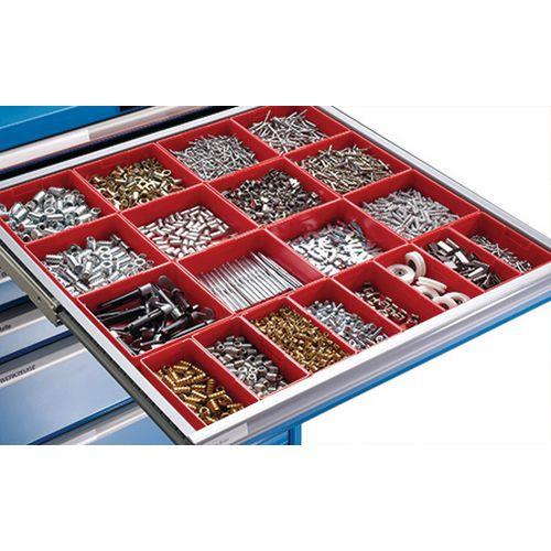 Bacs plastique pour tiroirs LISTA - Largeur 102 cm