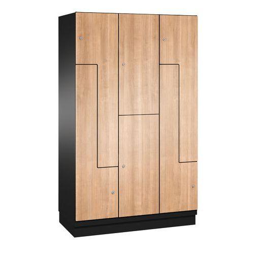 vestiaire porte l bois 6 cases largeur 300 et 400 mm. Black Bedroom Furniture Sets. Home Design Ideas