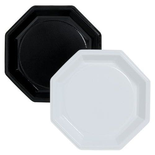Assiettes octogonales