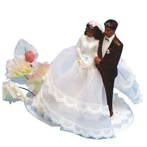 Figurine décoration gâteau - Couple créole