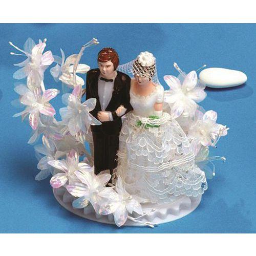 Figurine décoration gâteau - Couple valérie en plastique