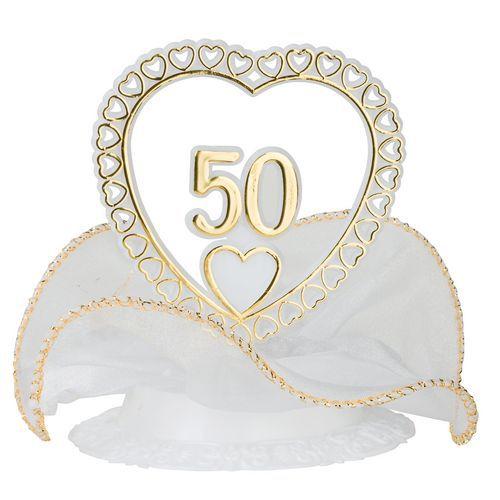 Décoration gâteau - Coeur anniversaire mariage
