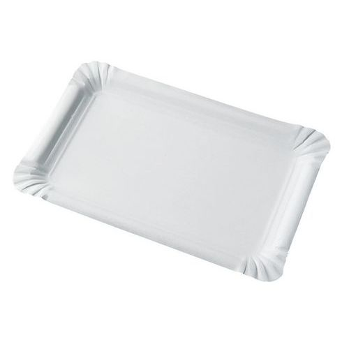 Assiettes rectangulaires blanches