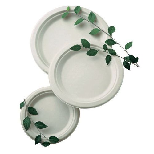 Assiettes plates fibre