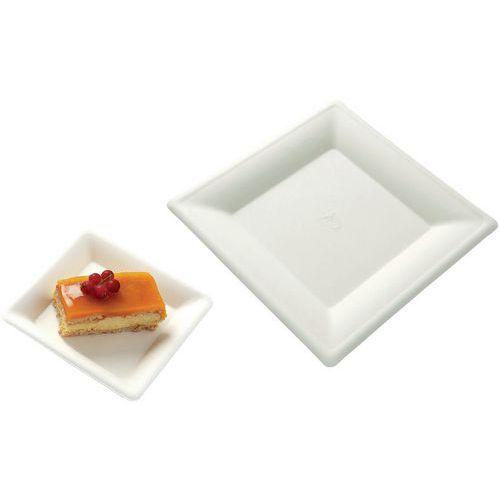 Assiettes carrées fibre