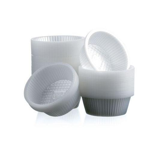 Caissettes plastique rondes