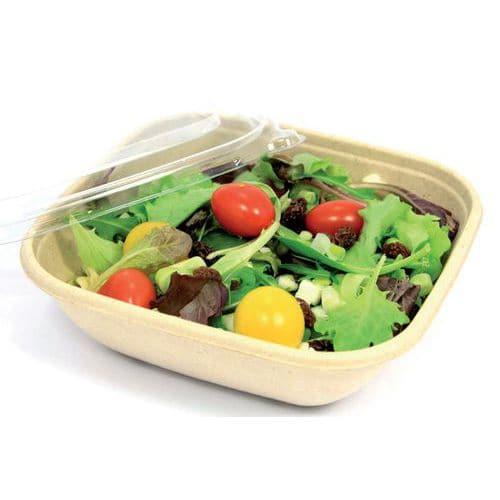 Couvercle pour saladier en fibre de canne