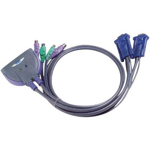 Switch mini kvm 2 ports VGA/PS2