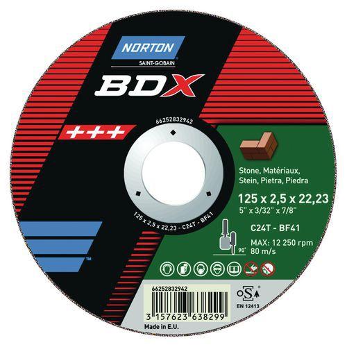 Disque à tronçonner - BDX matériau - Ø 125 et 230