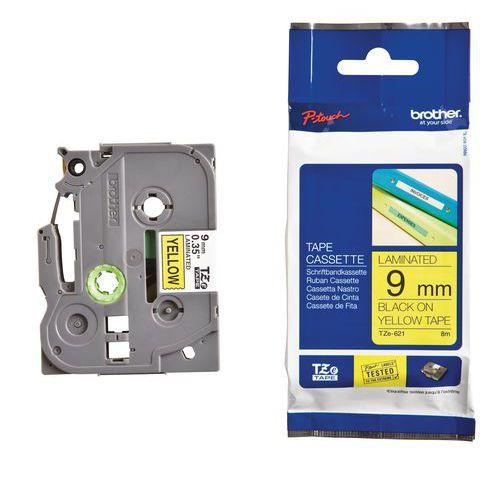 Cassette de ruban pour étiqueteuse Brother - Largeur 9 mm