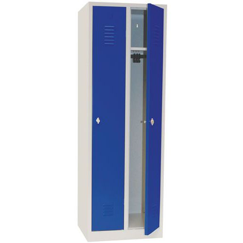 Vestiaire industrie propre - À clé - Largeur 300 mm - Sur socle - Manutan