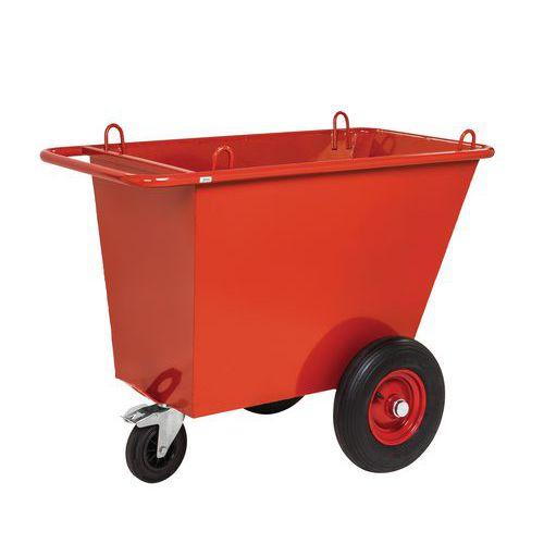 Chariot à déchets 400L avec roues pneumatiques_Kongamek