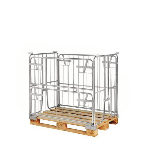 Rehausse-palette galva KM9010000 - Pliante - 1/2 côté rabattable