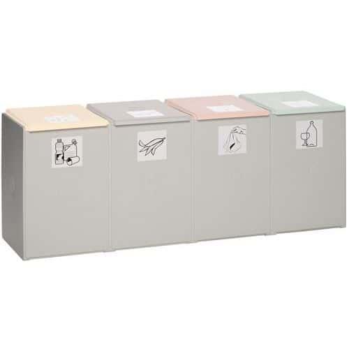 Kit système de recyclage en plastique - Capacité 4 x 60 L