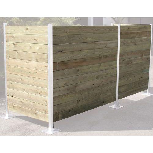 Lame en bois pour cache conteneur for Conteneur bois