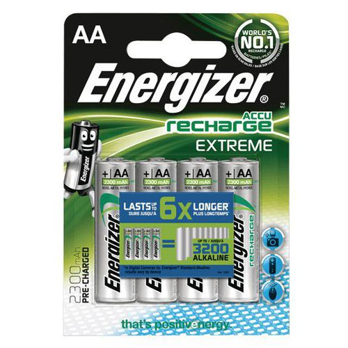 Recyclée Lot De Rechargeable Aalr06 Pile 4 Energizer Extreme bgyY76f