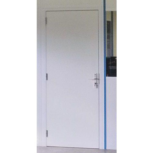 Porte battante pour cloisons d'atelier mélaminé - Panneau plein - Hauteur 2,53 m