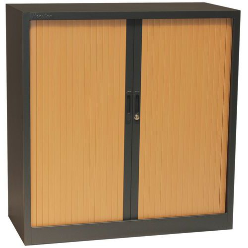 Armoire à rideaux Basse Bicolore - Manutan