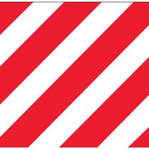 Panneau hachur rouge blanc personnalisable - Bureau rouge et blanc ...