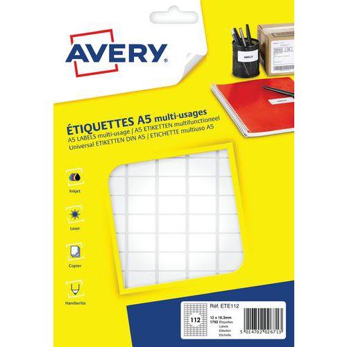 Étiquette papier adhésive multi-supports
