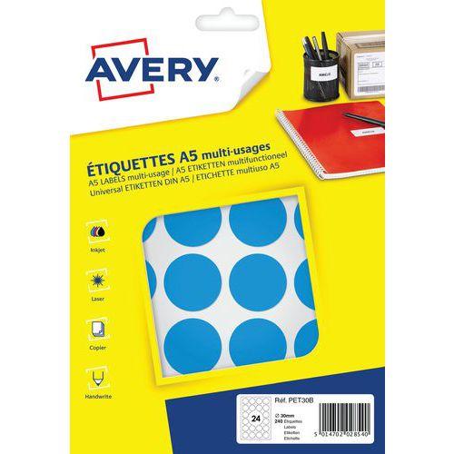 Pastille papier adhésive multi-supports