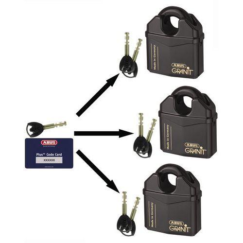 Cadenas Granit blindé série 37 - Pour clé passe - 2 clés