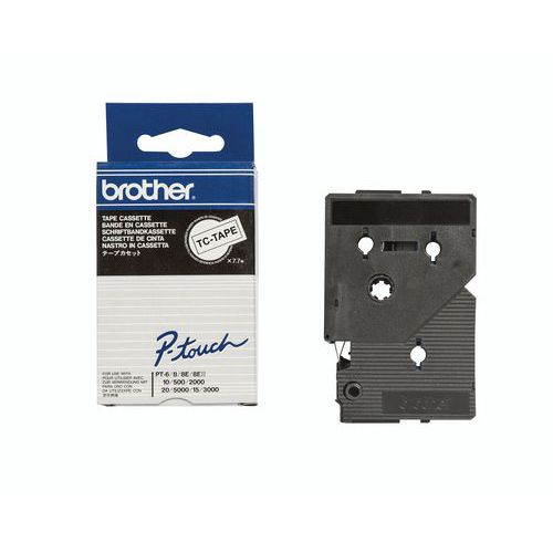 Cassette de ruban pour étiqueteuses Brother - Largeur 9 mm