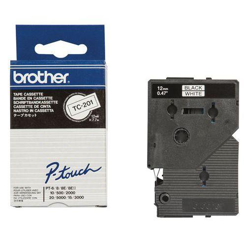 Cassette de ruban pour étiqueteuses Brother - Largeur 12 mm