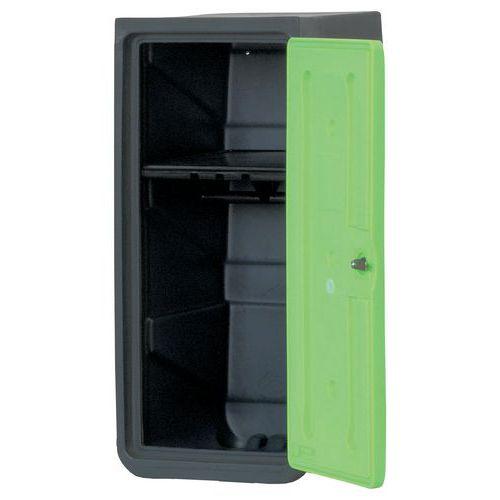 Demi-vestiaire plastique - Sur socle - Avec étagère porte-cintres - EMP