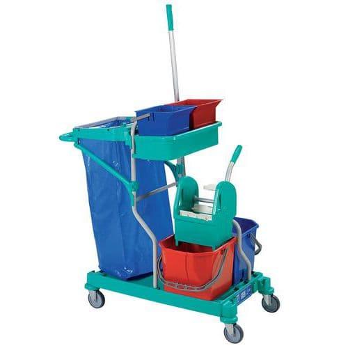 Chariot De Nettoyage En Plastique - Manutan.Fr