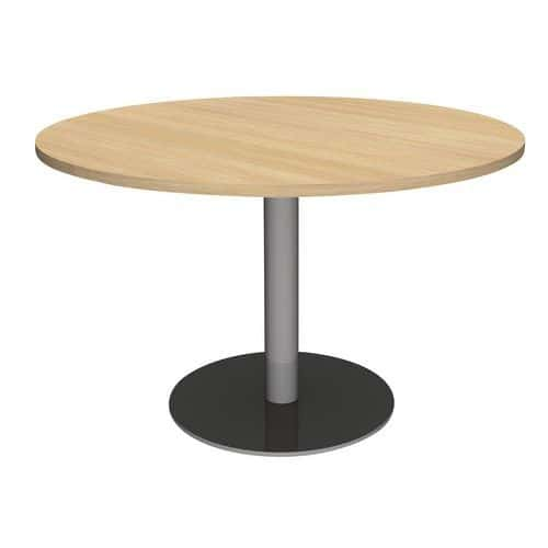 Table ronde pied central et table tonneau 2 pieds centraux - Table ronde marbre pied central ...
