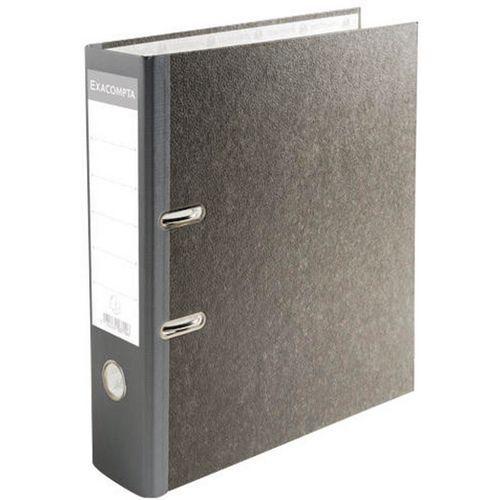 Classeur à levier papier marbré gris Prem'Touch