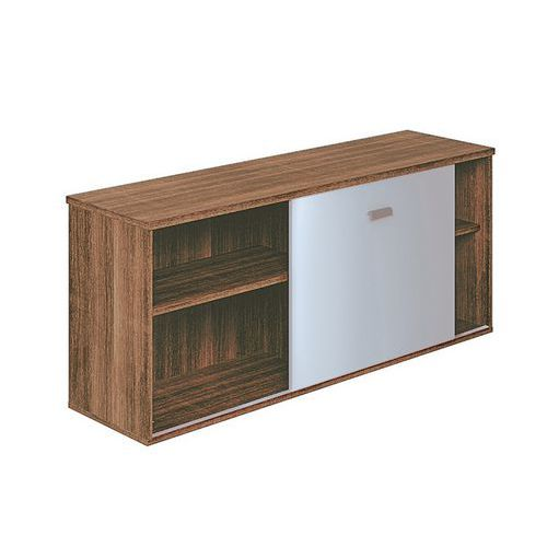 Porte coulissante pour meuble retour moka - Porte vitree pour meuble ...