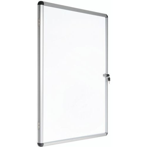 Vitrine d'intérieur Manutan 1 porte - Fond alumium - Porte en plexiglass