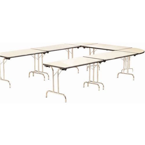 table modulaire pliante pi tement chrom rectangulaire. Black Bedroom Furniture Sets. Home Design Ideas