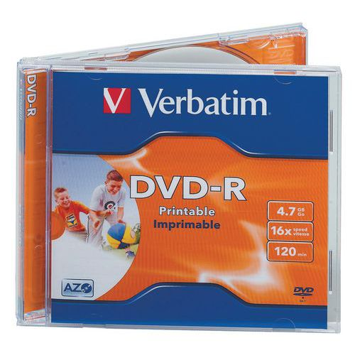 DVD-R imprimable 16X - Lot de 10 Verbatim