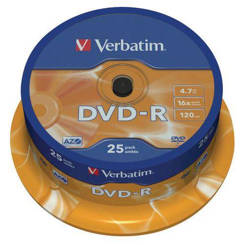 DVD-R - Matt Silver 16X- lot de 25 Verbatim