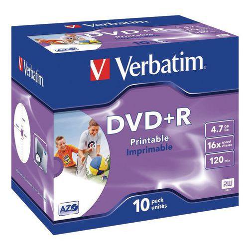 DVD+R imprimable 16X - Lot de 10 Verbatim