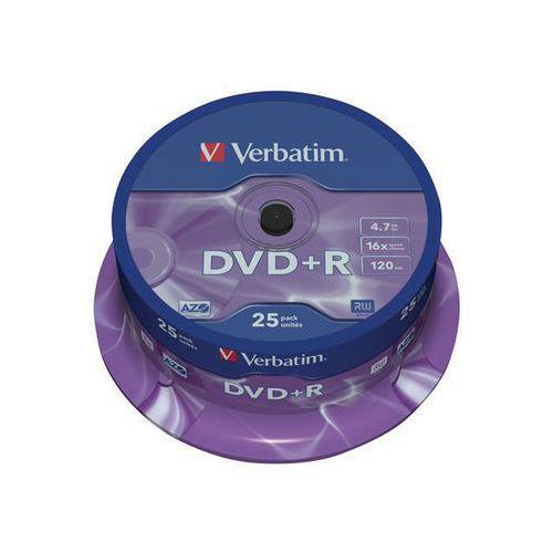 DVD+R 16X Matt Silver - Lot de 25 & 50 - Verbatim