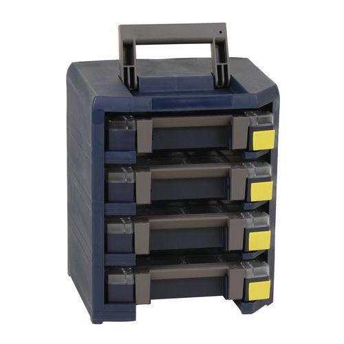 Caisson de transport HandyBoxxser 4x4x4 avec 4 mallettes Boxxser