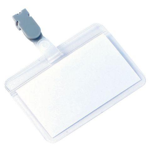 Porte-badge autoplastifiable - Avec clip