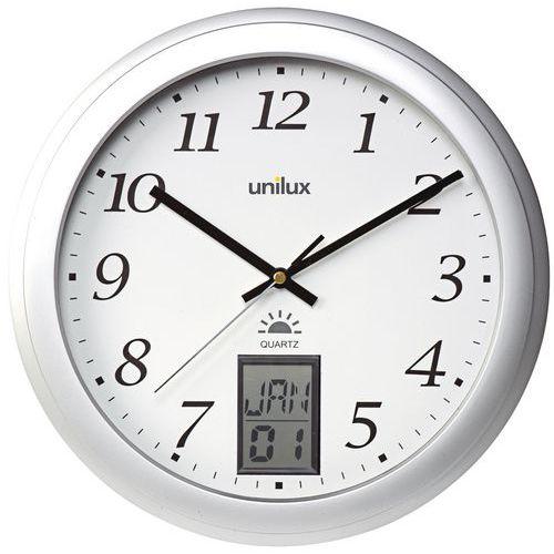 Horloge murale contrôlée par radio avec indication numérique de la date