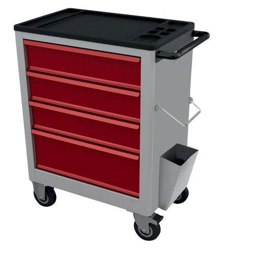 chariot outils 4 tiroirs 2 sens d 39 ouverture. Black Bedroom Furniture Sets. Home Design Ideas