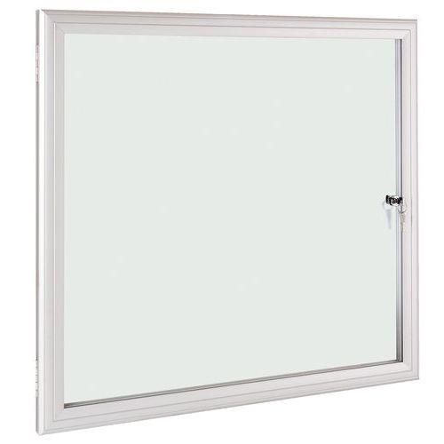 Vitrine d'intérieur et extérieur ESG - Fond aluminium - Porte en verre de sécurité