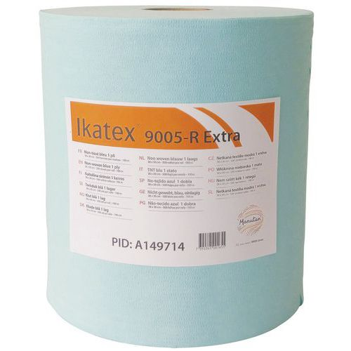 Bobine non-tissé Profitextra - 500 formats - Bleu - 38x30cm - Ikatex