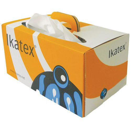 Chiffon non tissé - Boîte distributrice feuille à feuille - 200 formats Ikatex